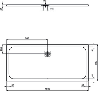 IS_UltraFlatS_K8304_PrListDrw_NN_shower-tray180x80